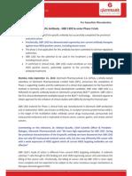 Glenmark's Bi-Specific Antibody - GBR 1302 to enter Phase I trials [Company Update]