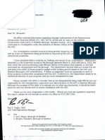 Labor and Industry Letter to Steelton BCO and Former BCO