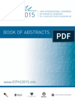 Book of Abstracts Icphs 2015