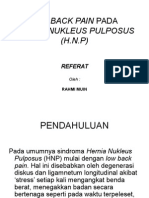 Low Back Pain Pada Hnp