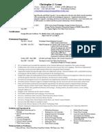 Resume Christopher J Croom.2015r