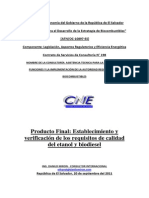 Establecimiento Calidad Del Etanol y Biodiesel Versión Aceptada