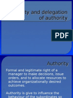 authority and Delegation