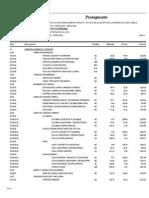 Presupuesto COMPLEJO RECREATIVO CONCHA ACUSTICA