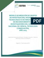 Documento Medicion Grupos - Investigadores Version Final 15-10-2014....