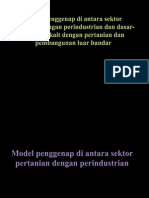 Model Penggenap Di Antara Sektor Pertanian Dengan an