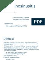Rhinosinusitis Tanpa Polip Ppt New