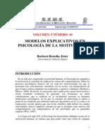 BARBERA HEREDIA_Paper_Modelos Explicativos en Psicologia de La Motivacion