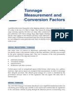 Appendix B; Tonnage Measurement and Conversion Factors