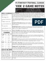 BFFL Notes Week 2