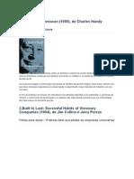 Lista de Livros Sobre Gerência Empresarial