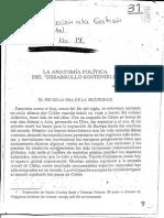 La Anatomía Política Del Desarrollo Sostenible - Wolfgang Sachs