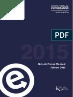 Informe ProMperu Febrero 2015