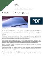 Teória Geral Dos Contratos(Resumo) DIREITO CIVIL