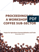 Proceeding of Coffee Sub Sector