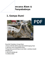 Bencana Alam Dan Penyebab