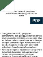 Gangguan Neurotik Gangguan Soomatoform Dan Gangguan Terkait Stress