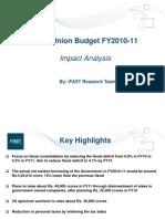 India Union Budget 2010