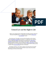 Natural Law and the Right to Life