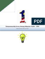 Entrepreneurship Survey Among Malaysian Youths - 2010