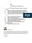CST List of Document