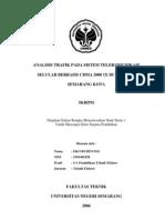 Analisis Trafik Pada Sistem Telekomunikasi Selular Berbasis Cdma 2000 1x Di Wilayah Semarang Kota