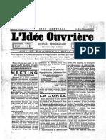 1887 10 22 L'Idée Ouvrière