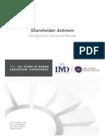 Literature Review_Shareholder Activism