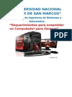 REQUERIMENTOS PARA ARMAR UNA PC