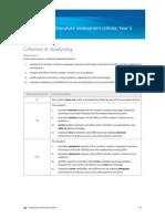MY4 English Assessment Criteria