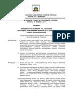 Lembar Daerah Nomor 6 Tahun 2013 Pertanggungjawaban Pelaksanaan Apbd 2012