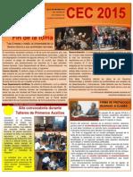 Boletín Informativo #01 Agosto 2015
