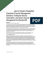 People Soft FIN ESA Rel89 Bundle20 Release Notes