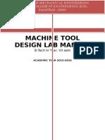 Machine Tool Design Lab Manual (1)