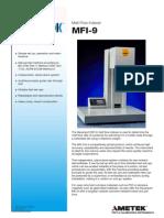 MFI-9 Specification Sheet