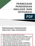 Perbezaan Pendidikan Inklusif Dan Integrasi