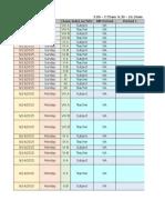 SS Schedule