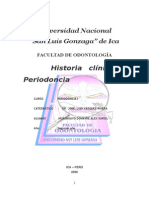 Historia Clinica de Periodoncia