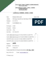 Normination of NU Fo 21st SEA & ASIAN Junior & Cadet 2015