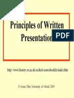 Written Presentation