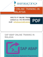 Sap Abap Online Traning in Malaysia