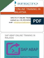 Sap Abap Online Traning in Malaysia
