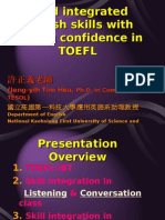 940429Build integrated English skills with testing confidence in TOEFL