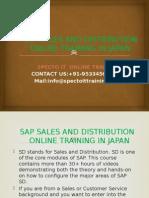 Sap Sd Online Training in Japan