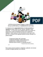 PRÁCTICA Y EVALUACIÓN DE LA COMPRENSIÓN LECTORA