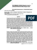 4094PENGENDALIAN HAMA KUMBANG LOGONG (Sitophylus oryzae L.) DENGAN MENGGUNAKAN EKSTRAK BIJI PANGI (Pangium edule Reinw.)