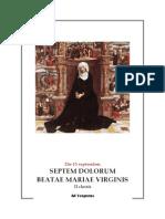 Vísperas gregorianas Los Siete Dolores de Nuestra Señora