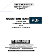 Log + compound angles + QE 11th (PQRS)