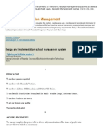Project Materials For Electronic record management system
