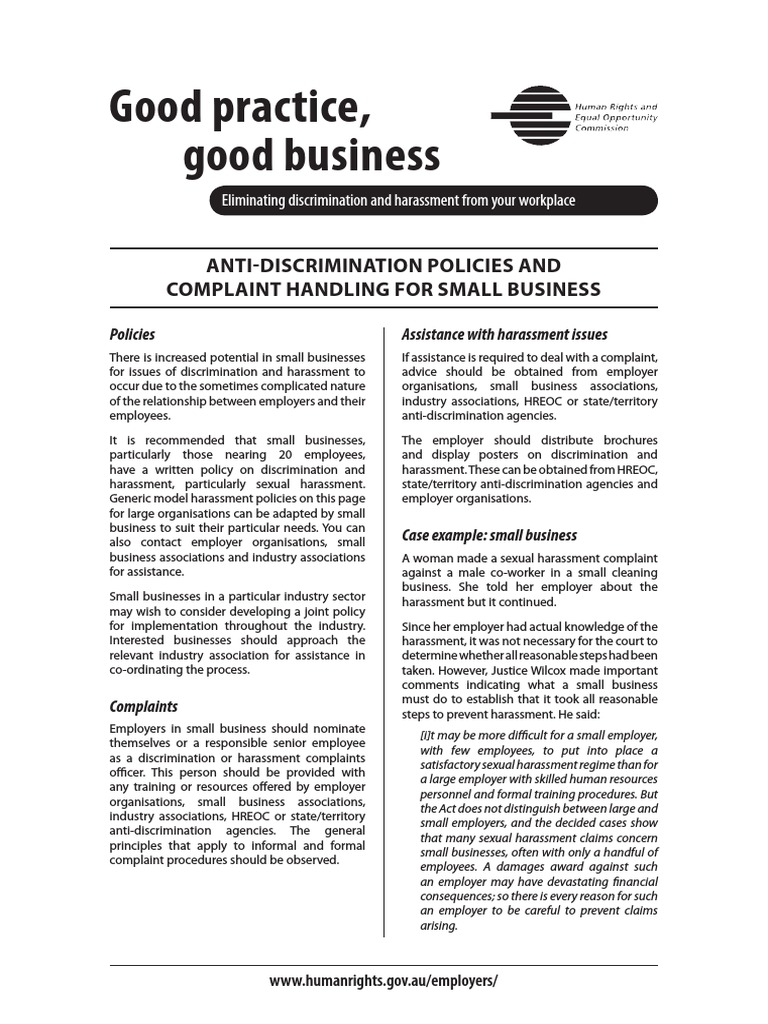 Anti discrimination policies sexual harassment employment wajeb Image collections